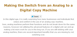 Making the Switch from an Analog to Digital Copy Machine